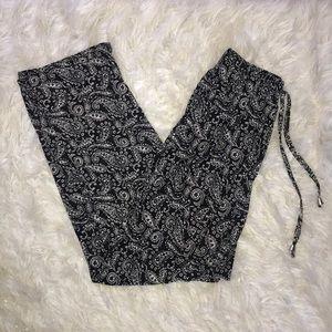 Patterned Silk Pants